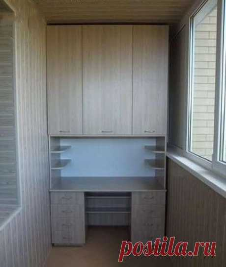 Cохраните, чтобы не потерять! Шкафчики на балкон – 30 шикарных идей