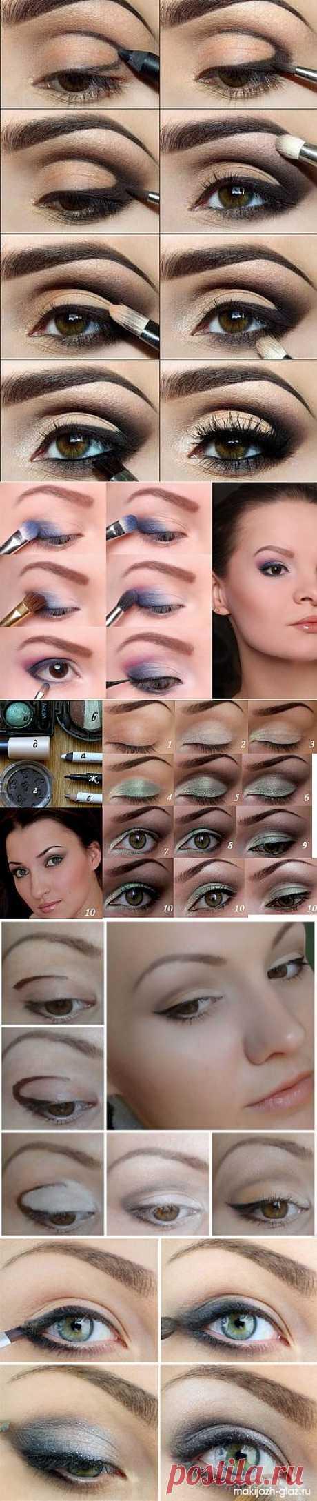 макияж для глаз пошаговое фото | ШПИЛЬКИ