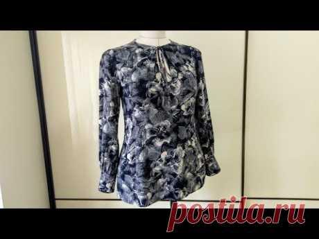 Элегантный стиль - блузка из штапеля