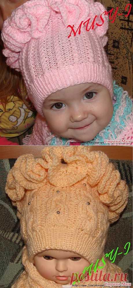 Розовая шапочка для наших дочек.
