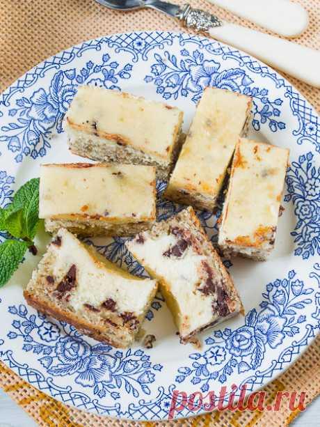 Рецепт Творожно-банановый пирог с шоколадом на Вкусном Блоге