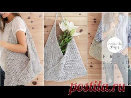Miller Market Bag / Tote FREE Crochet Pattern Video Tutorial
