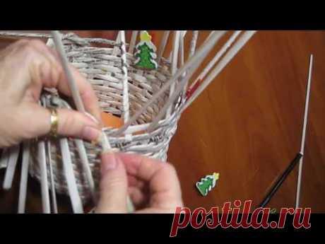 мастер класс Корзинка из газетных трубочек/Как крутить трубочки/Сделать Корзинку Дома на Пасху DIY.
