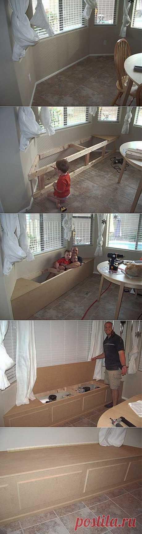Мини мастер класс по изготовлению диванчика у окна.   Самоделкино
