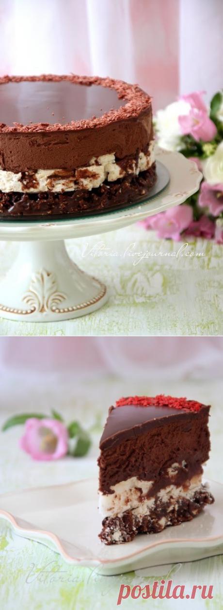 """Торт """"Шоколадный мусс на мацово - карамельной основе"""""""