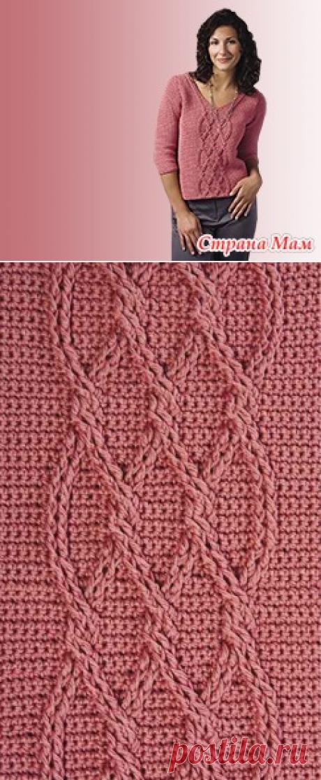 *Розовый пуловер - Все в ажуре... (вязание крючком) - Страна Мам