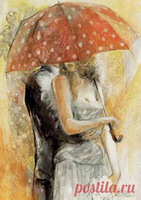 Предпросмотр схемы вышивки «Под зонтом» - Вышивка крестом