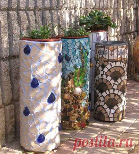 Мозаика из битой плитки: 25 идей как использовать остатки кафельной плитки   Красивый Дом и Сад