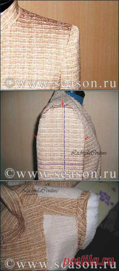 Клуб любителей шитья «Сезон»: Метод втачивания рукава в жакет