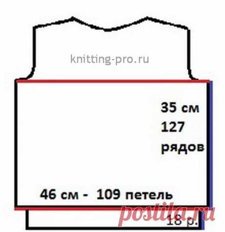 Расчет участков из прямых горизонтальных и вертикальных линий выкройки - knitting-pro.ru - От азов к мастерству