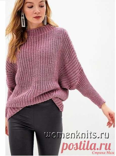 Пуловер патентным узором спицами Пуловер спицами Размеры: 36/38 (40/42 — 44/46) 48/50.