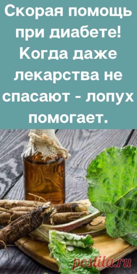 Скорая помощь при диабете! Когда даже лекарства не спасают - лопух помогает. - likemi.ru