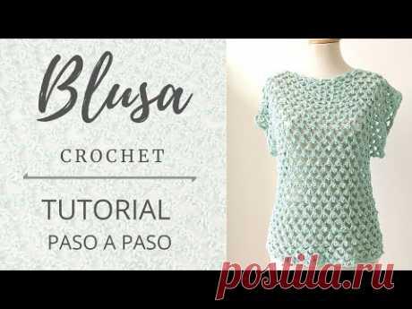 Cómo tejer Blusa a crochet o ganchillo muy fácilmente