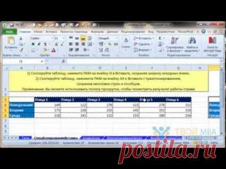 Тур по Excel: основы работы