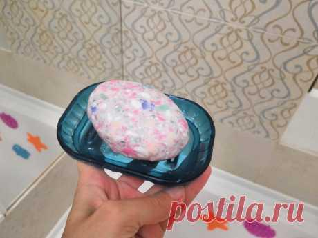 Не выбрасываю мыльные обмылки-делаю из них яркое мыло, которое так нравится всей семье и гостям | Я расту! | Яндекс Дзен