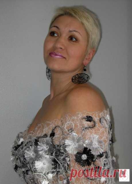 Работы Валентины Власовой в технике CRAZY_WOOL .