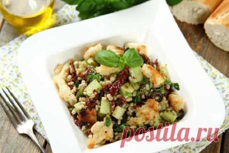 Салат с перловой крупой и овощами – пошаговый рецепт с фото.