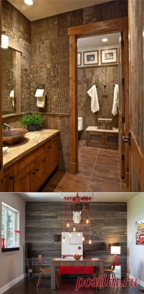 Отделка деревом стен: варианты дизайнерского подхода | Epoxy-Wood | Яндекс Дзен