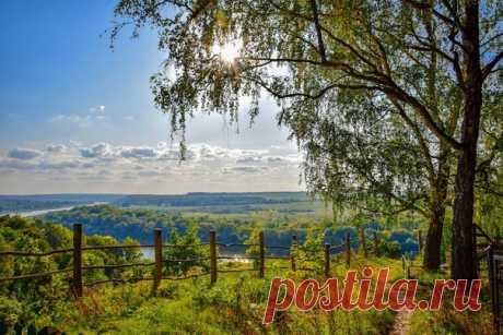 Пейзаж реки Ока в селе Бёхово, Тульская область. Фотограф - Павел Дёмин: