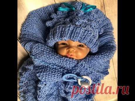 9 Goldfaden Мастер класс Конверт Кокон для новорожденных Вязание Knitted creative