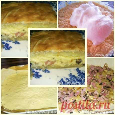 Пирог с сырным суфле