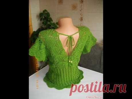 Топ (туника) крючком // Knit crochet top - YouTube