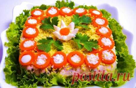 Ideas of decoration of salads by March 8
