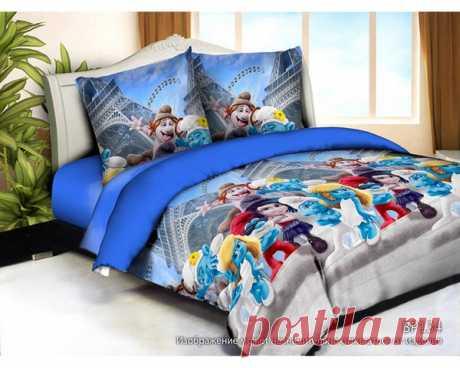 купить комплект постельного белья Слим-сатин BP134 простыня 150х210, пододеяльник 147х210, наволочка 70х70- 2шт
