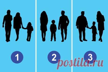 Тест. На какой картинке нарисована не семья?