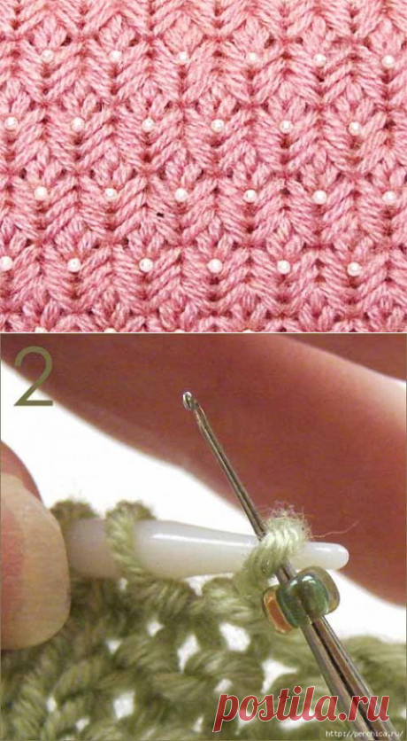 Вязание с бисером спицами без нанизывания