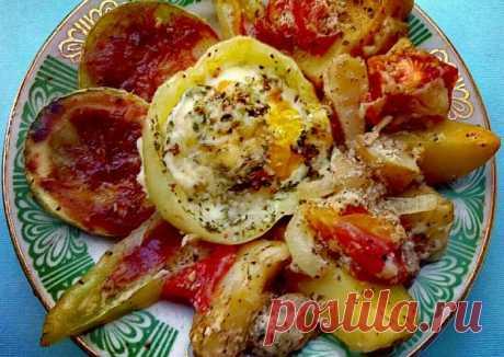(4) Овощное рагу с италийскими травами, из сырами фета и моцарелла в духовке - пошаговый рецепт с фото. Автор рецепта Alena Yarmysh . - Cookpad