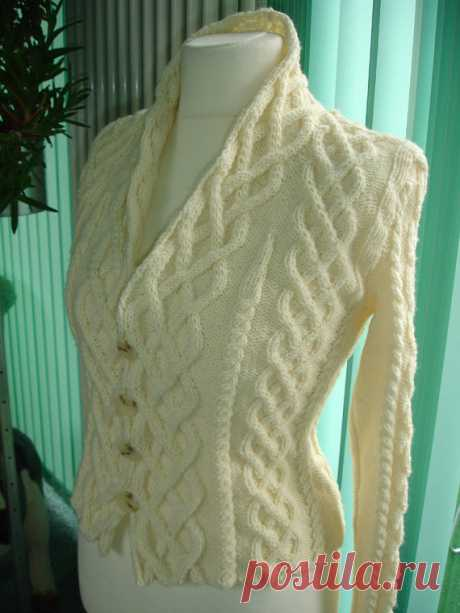 Custom cabled knit cardigan inspired by the movie The от CatWalk7