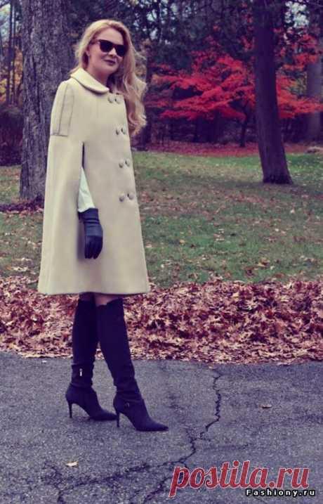 Переделка пальто в кейп