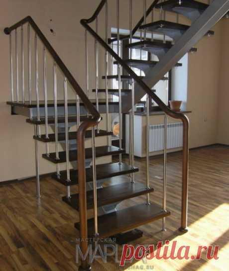 Лестницы, ограждения, перила из стекла, дерева, металла Маршаг – Нержавеющее ограждение лестниц