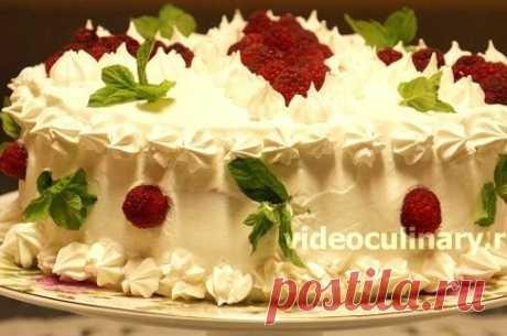 Бисквитный торт со сливочным кремом рецепт – европейская кухня: выпечка и десерты. «Еда»