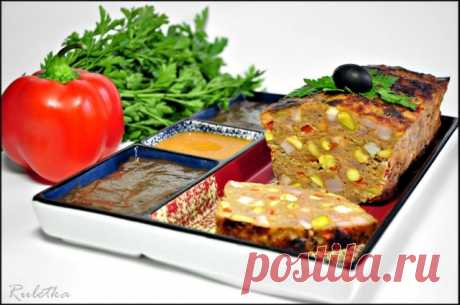 Митлоф (мясной хлеб) с паприкой и двумя соусами. – пошаговый рецепт с фото