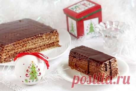 Вафельный торт с шоколадным кремом, рецепт с фото. Как приготовить шоколадный вафельный торт?
