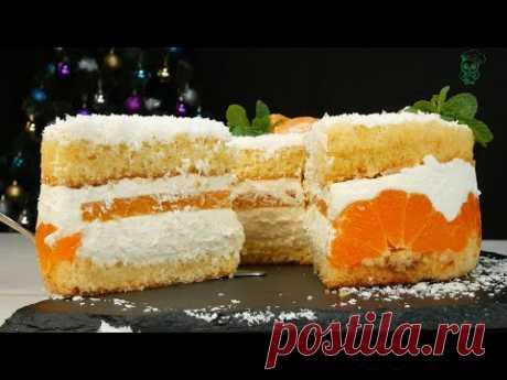 Мандариновая нежность, торт на Новый год 2021
