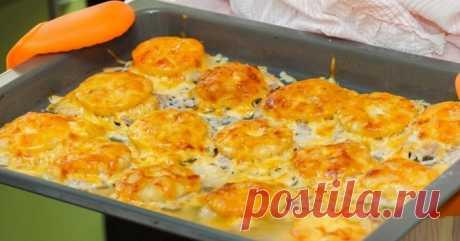 500 г фарша и сырой картофель: вот что я приготовлю на ближайший званый обед. Удобно подавать для праздничного стола, запекаются порционно. — ✔️ Копилка моих идей!