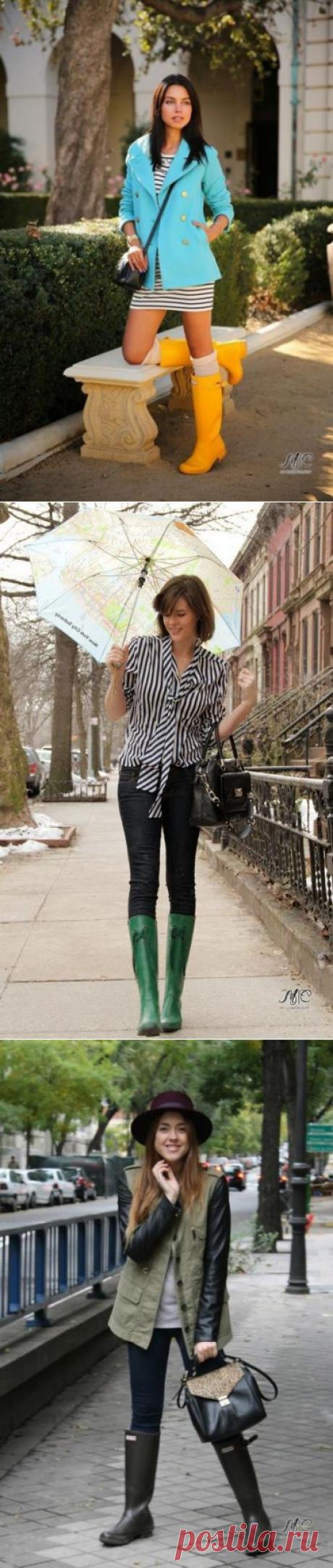 Los consejos de estilo - con que llevar las botas de agua.