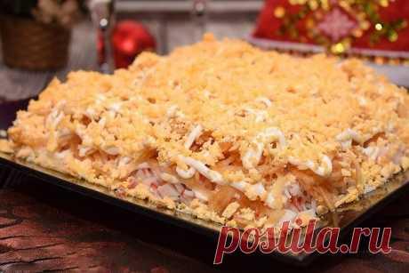 Как приготовить салат «ландыш» с крабовыми палочками и плавленным сыром. - рецепт, ингредиенты и фотографии