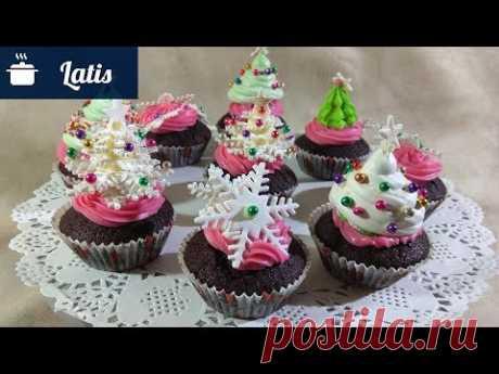 Новогодние чудесные кексы! Как украшать? Легко, быстро и просто!