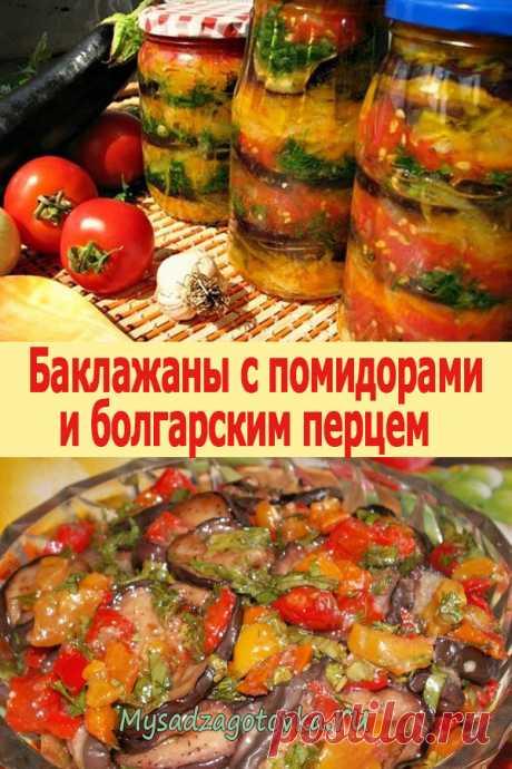 Баклажаны с помидорами и болгарским перцем «Хозяйка в ударе» - Мой сад