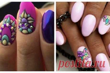 30 magic options of manicure in SWEET BLOOM style