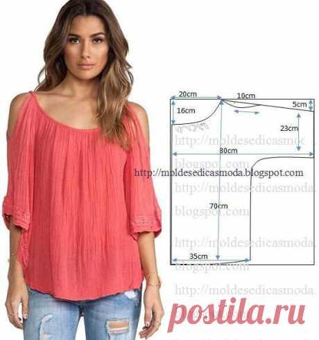 Выкройка летней блузы (Шитье и крой) | Журнал Вдохновение Рукодельницы