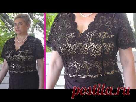Как сшить блузку из кружева