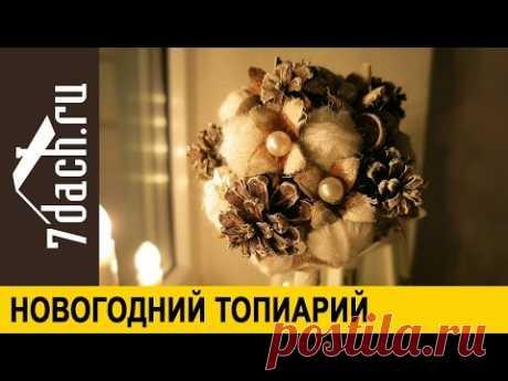 Новогодний топиарий - 7 дач - YouTube