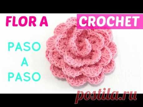 Flor a crochet paso a paso sin perder detalle ENGLISH subtitles