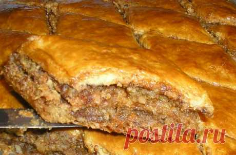 Nut pie \u000d\u000a\u000d\u000a Hi everyone! The other day baked this pie, found the recipe in the mother-in-law notebook. Today I am already going to bake a double portion, very tasty! Pie, in principle known, but at a forum did not find the recipe, so h …