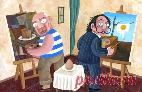 Пикассо и Дали рисуют яйцо :) У каждого свой взгляд на вещи.